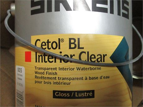 3 Gal. SIKKENS CETOL BL Interior Clear #003