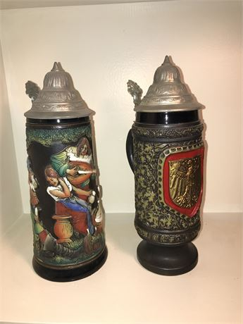 Two King Beer Steins
