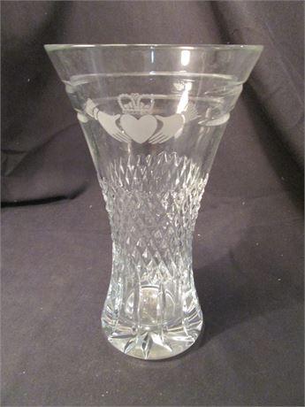 """Vintage Fancy Wedding Crystal 10"""" 542 Marked Vase"""