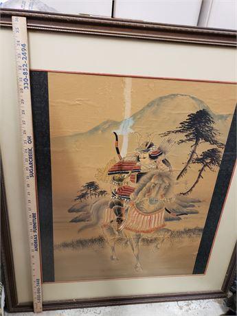 "Samurai Framed Picture 37""x32"""