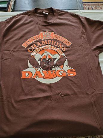 Vintage 1987 AFC Champs DAWGS Cleveland Browns T Shirt XL NWOT