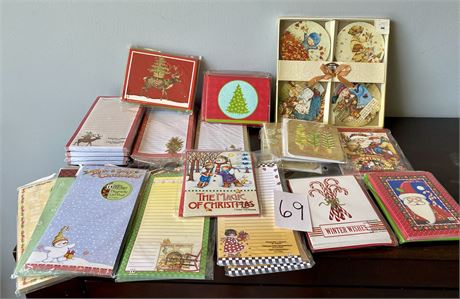 Large Lot of Holiday Cards and Notepads