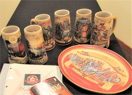 Miller High Life Collectable Ceramic Beer Steins and Plates