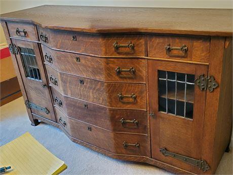 Gorgeous Antique Arts & Crafts Sideboard Quartersawn Oak