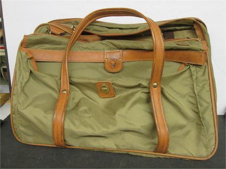 "Genuine Hartmann Nylon & Leather Tan Soft Side 14"" X 21"" Luggage"