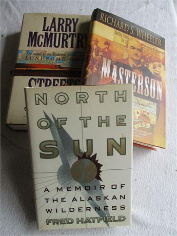 3 Modern Fiction Known Novels Hardback Books Lot