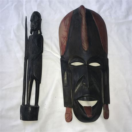 2 Pieces of Authentic African Tribal Art