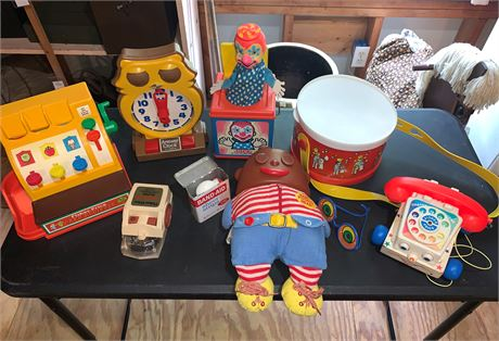 Fisher Price, Mattel, and Tomy Toddler Toys