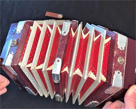 Antique Italian Concertina Squeezebox