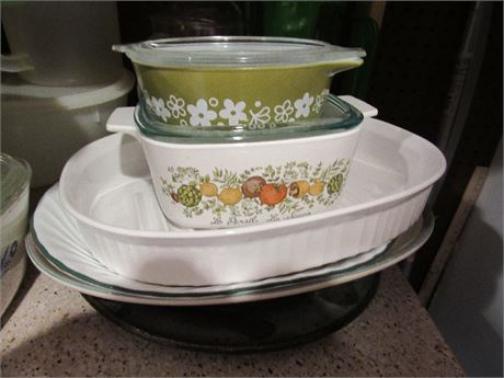 Casserole Dishes and Storage Containers