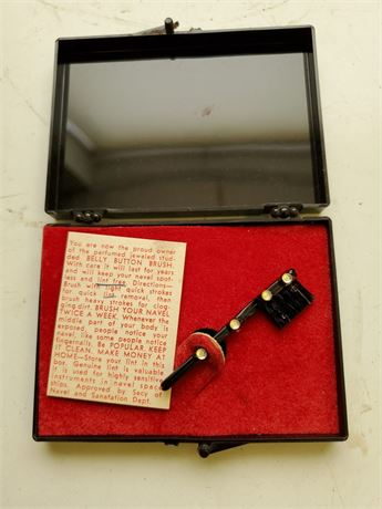 Vintage Belly Button Brush in Box