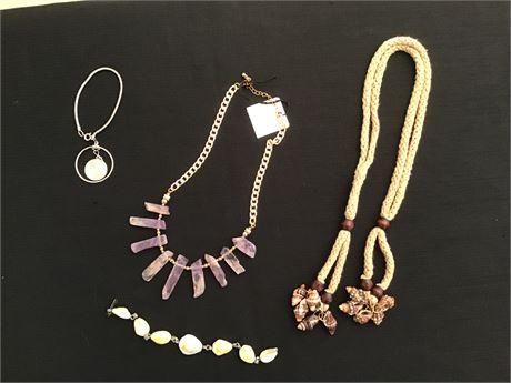 Ladies Stone Necklace and Other Jewlery