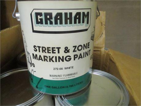 4 Gal. Graham Street Zone Pavement Marking WHITE PAINT