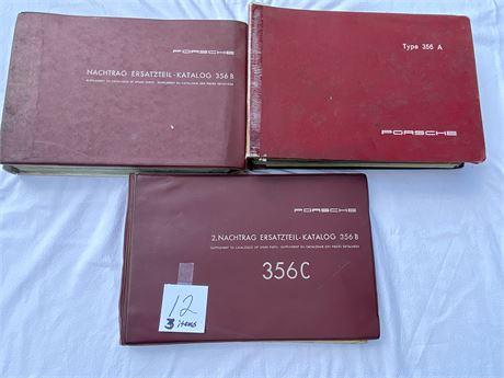 RARE Porsche Spare Parts Catalogs - Factory Originals (See Description)