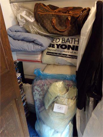 Closet Cleanout, blankets, sheets, etc