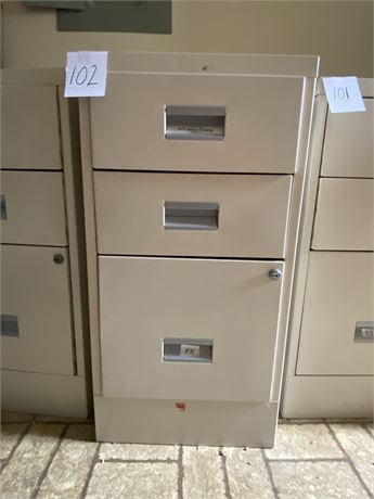 W.P. Johnson Standard Metal Filing Cabinet (2 of 3)