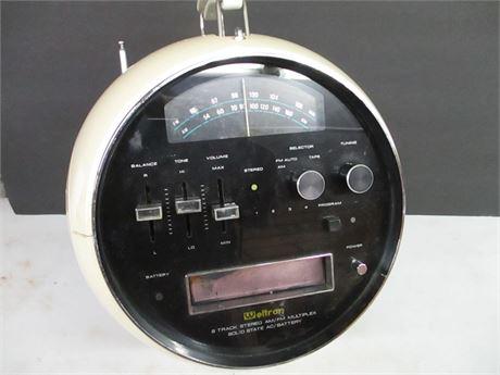 Mid Century  8 Track AM FM Multi Plex Solid State Portable