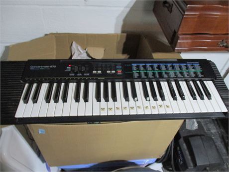 Concertmate Model 670 Electronic Keyboard Working System