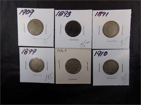 Nickels various years