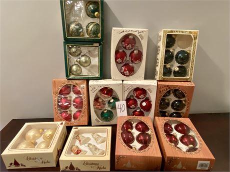 Vintage Christmas Ornaments Lot #1
