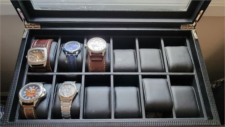 Men's Watch Collection in Valet Box