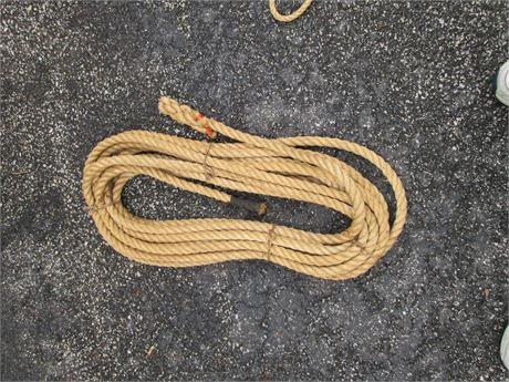 Vintage Approx 50-60'  3/4 Hemp Western Cowboy Rope