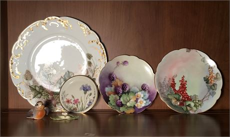 Two Findley Porcelain Collector Plates and More
