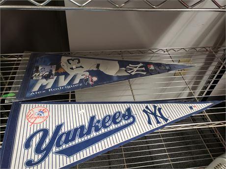 New York Yankees & Alex Rodriguez Pennants