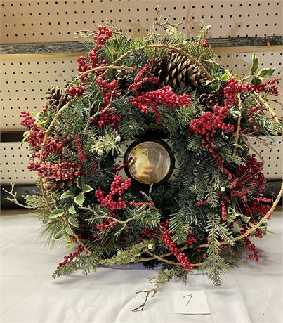 Holiday Wreath Style Candle Holder (candle not included)