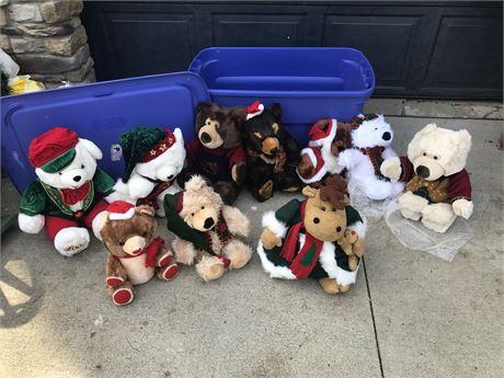 Christmas Teddy Bears and Moose