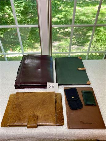 Alligator Notebook Holder, Day Planner, Leather Wallet, Etc Lot