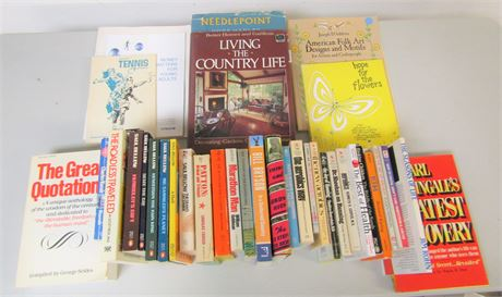 Reference and Fiction Book Lot