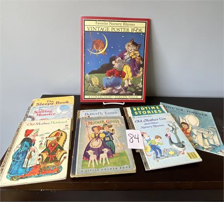Nursery Rhymes Collector Books w/ Rare Mother Goose Book
