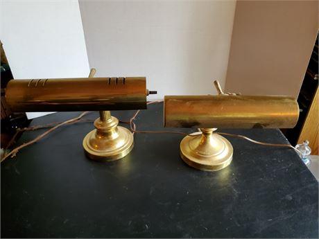 2 Brass Desk Lamps