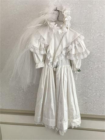 1991 Christening Dress with Headpiece