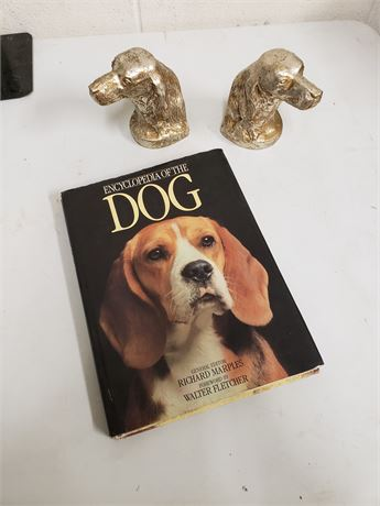 Dog Book & Dog Bookends