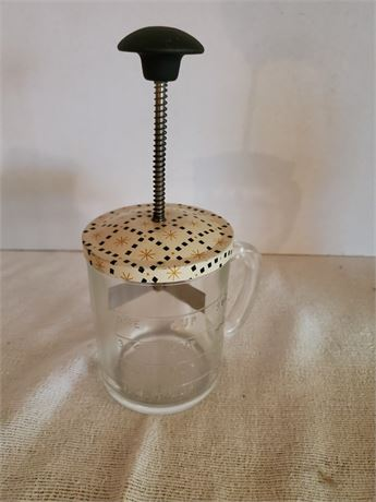 Vintage Glass Jar Chopper