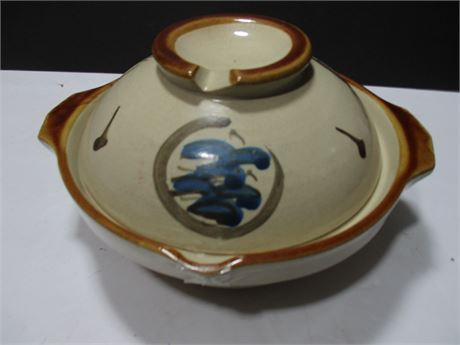 """Vintage Hand Painted Oriental 8"""" Fancy covered Art Rice Dish Bowl"""