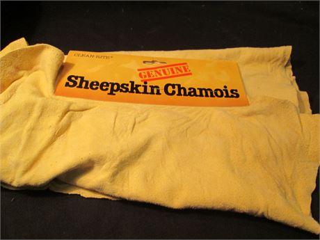 New Vintage Genuine Sheepskin Chamois Leather
