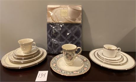 15 Pieces of Lenox China from Three Collections & Lenox Tablecloth