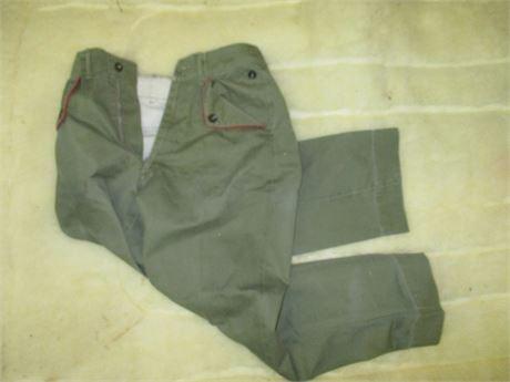 Vintage 1960's Official Boy Scout Cuyahoga Falls uniform Pants