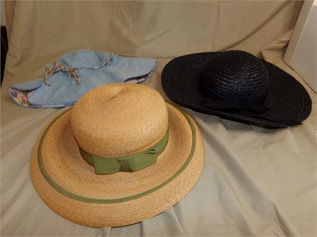 3 Vintage Hats- including Preston & York and Dachette's