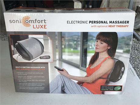 Soni Comfort Luxe Electronic Personal Massager (new in box)