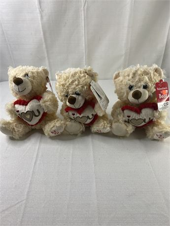 Valentine 2020 teddy bears. Lot of 12.