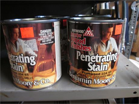 4 - Qts Benjamin Moore Penetrating Fruitwood Stains