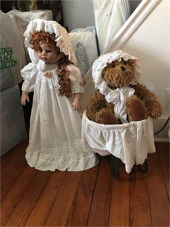 Doll and Teddy Bear Lot