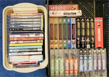 DVDs, VHS Tapes, & Cassette Tapes