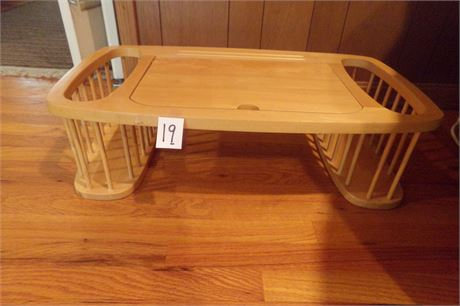 Wooden bed tray workcenter