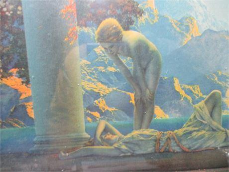 Antique 1920's DAYBREAK by Maxfield Parrish Art deco Print