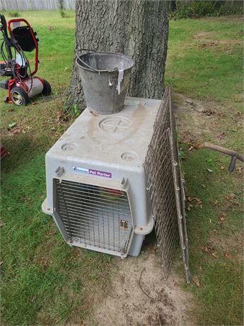 Large Dog Crate / Metal Crate / Metal Bucket